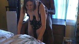 Wedding ring humilation hubby films his wife with black guy