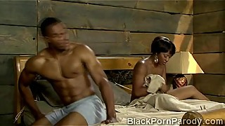 Stunning aunt Vivian gets pumped and blasted in black porn parody