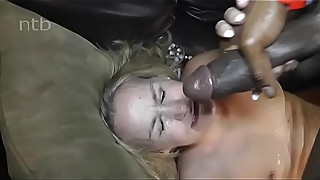 Blond milf fucks black pool Cleaner and gets a facial. (name?)
