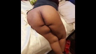 Big black ass getting hit from the back