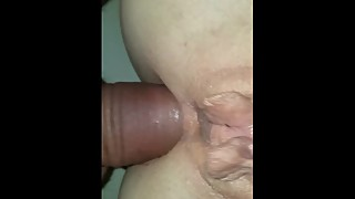 South african wife having an anal orgasm with a creampie