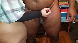 My first time jerking off a thick black dick and I loved every second of it.      heavyxxxdick