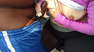 Dogging & Cuckold wife with BBC outdoors