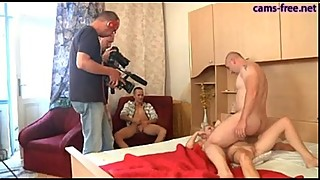 Two very hot german wives get fucked HARD