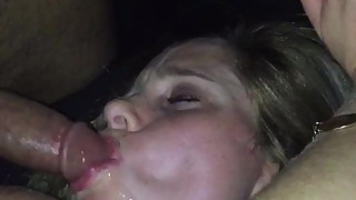 Slutwife moaning and having sex in the car