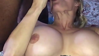 Black men use the mouth of big titty wife