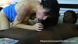 Big tit wife cheats on husband with a big black cock
