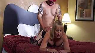 Jay get a text from hotwife Rebecca Williams - she want his massive cumshot
