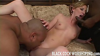 Watch me get spit roasted by two big black cocks