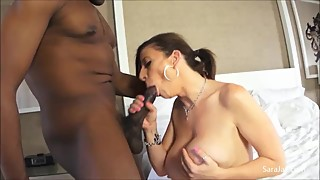 Mega Horny Cheating Wife Sara Jay Fucks The Cum Out Of Big Black Dick!