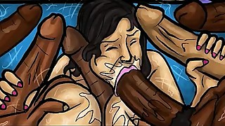 Latin Milf Sucks Huge black dicks! (Illustration)