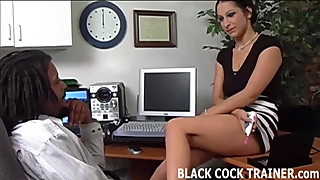 I am going to give my hung black boss a blowjob