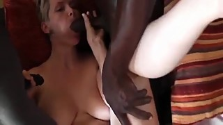 busty blond wife with 2 black studs