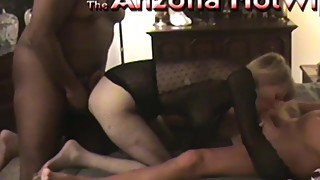The Arizona HotWife husband invites 5 guys from work home 4 gangbang