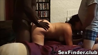 Husband Filming Nympho Wife Fucking Stranger & Joins Them