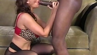 Wife sucks black cock