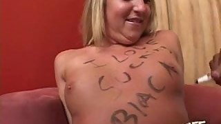 Amateur white slutwife Jules used by black fat cock