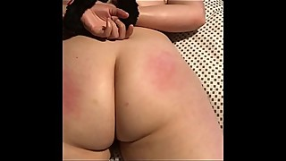 Tied up pawg whore wife and told her not to cum