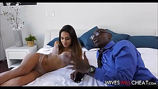 Latina Teen Wife Caught Cheating W/ Husbands Black Boss Cuckold