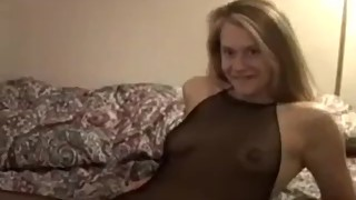 hot blonde wife gets creampie from blacks