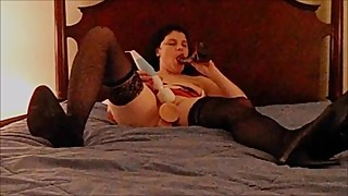 Jillian The Slut Wife Fucks and Cums all Over A Big Black Cock and Dildo