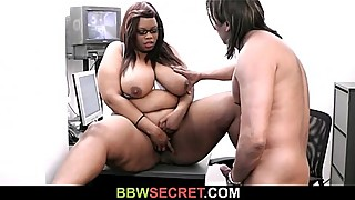 His GF leaves and he fucks black BBW