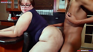 bbw pawg wife cheats on hubby with big black cock next door