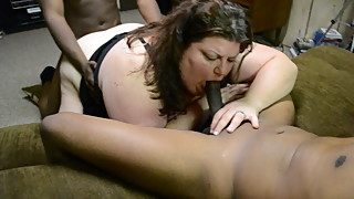 BBW Hotwife Kristy Alley gettin Spit Roasted by 2 BBCs again