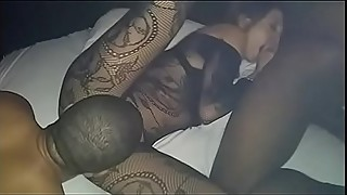 4 in 1 Black Porn, Couple Threesome, Threesome with 2 BBC'_s, Riding and sucking a Monster and Bathtub Masturbation